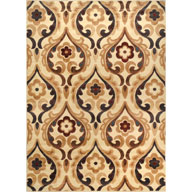 Flower Scroll Ivory Catalina Flower Scroll Ivory Area Rug
