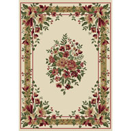 Formal Floral IvoryOptimum Formal Floral Ivory Area Rug