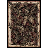 Leafy Black Optimum Leafy Black Area Rug
