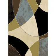 Abstract Retro Multi Optimum Abstract Retro Multi Area Rug
