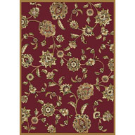 Victorian Floral Red Optimum Victorian Floral Red Area Rug