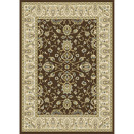 French Floral Brown Optimum French Floral Brown Area Rug