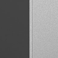 Matte Silver and Grey Ulti-MATE Garage Pro 2-Door Base Cabinet Kit