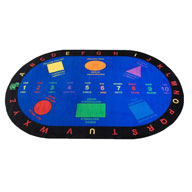 Bilingual Shapes Bilingual Shapes Kids Rug