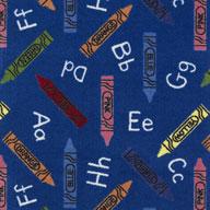 Blue Joy Carpets Crayons Carpet