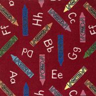 Red Joy Carpets Crayons Carpet