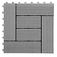 GrayHelios Deck Tiles (6 Slat)