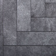 Chevron Blackstone Stone Flex Tiles