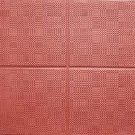 "Terra Cotta9/16"" Aerobic Lock Virgin Rubber Tiles"