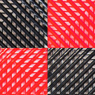 Black/Victory RedVented Nitro Tile - Motorcycle Mats