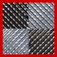Black/Graphite/Victory RedVented Nitro Tile - Motorcycle Mats