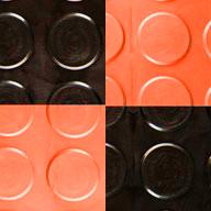 Black/Harley Orange Coin Nitro Tile - Motorcycle Mats