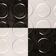 Black/Arctic White Coin Nitro Tile - Motorcycle Mats