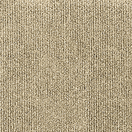 Ivory Wide Ribbed Carpet Tile