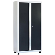 White/Charcoal American Heritage 2-Door Tall Cabinet
