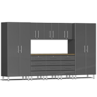 Graphite Grey MetallicUlti-MATE Garage 2.0 9-PC Kit w/ Bamboo Worktop