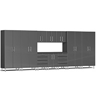 Graphite Grey MetallicUlti-MATE Garage 2.0 11-PC Kit w/ Workstation