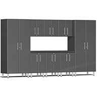 Graphite Grey MetallicUlti-MATE Garage 2.0 9-PC Kit w/ Recessed Worktop