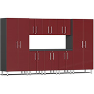 Ruby Red MetallicUlti-MATE Garage 2.0 9-PC Kit w/ Recessed Worktop