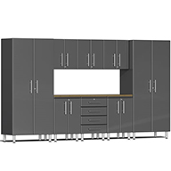 Graphite Grey MetallicUlti-MATE Garage 2.0 9-PC Bamboo Worktop Kit