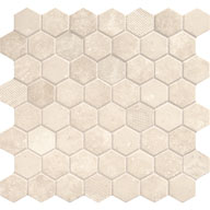 Antique BeigeDaltile Vintage Hex Glass Mosaic