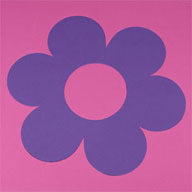 "Flower - Pink/Purple 1/2"" Soft Shapes"