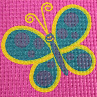 Pink Butterfly Kids Yoga Mat