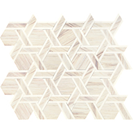 Pier White Blend Rotating Hex Daltile Fonte Mosaic