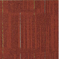 Frankly Scarlet Geo Accents Carpet Tile