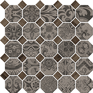 Composition Grey OctagonDaltile Rhetoric Mosaic