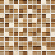 Caramelo Squares 1 x 1Daltile Mosaic Traditions
