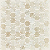 Hex Honed Impero RealeShaw Rio Natural Stone Mosaic