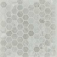 Hex Honed Ritz GreyShaw Rio Natural Stone Mosaic
