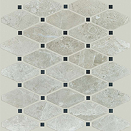 Diamond Honed Ritz GreyShaw Rio Natural Stone Mosaic