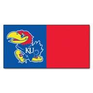 University of Kansas FANMATS NCAA Carpet Tiles