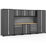Gray / Bamboo 58413NewAge Pro Series 9-PC Cabinet Set