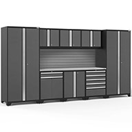 Gray / Steel 58415NewAge Pro Series 9-PC Cabinet Set