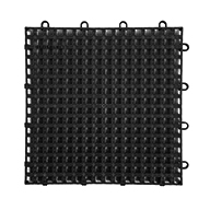 Black Raised Grip-Loc Tiles