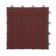 Brick Red Raised Grip-Loc Tiles