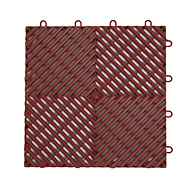 Brick Red Vented Grip-Loc Tiles