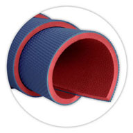 "Royal Blue/Red3/8"" Soft Mats"