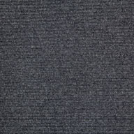 Black Ice Wide Ribbed Carpet Tile