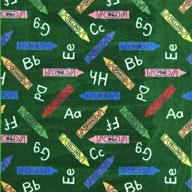 Green Joy Carpets Crayons Kids Rug