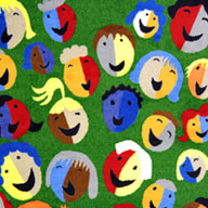 GreenJoy Carpets Joyful Faces Kids Rug