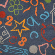 Chalkdust Joy Carpets Kid's Art Kids Rug