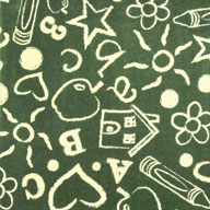 Green Joy Carpets Kid's Art Kids Rug
