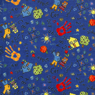 Blue Joy Carpets Scribbles Kids Rug