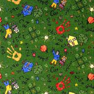 Green Joy Carpets Scribbles Kids Rug