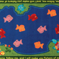 Multi Joy Carpets Fishers Of Men Kids Rug