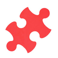 Red Puzzle Mats